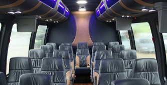 24 Passenger Coach Bus Interior
