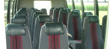 25 Passenger Coach Bus Interior